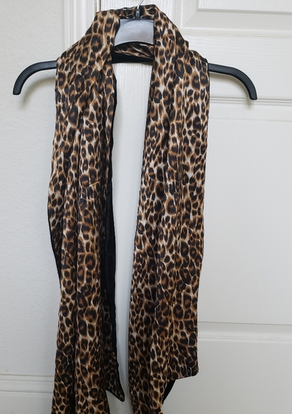 Charter Club Accessories - Charter Club Silk Leopard/Black Velvet Scarf/Shawl